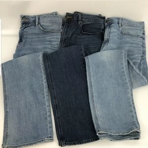 Mens Lot Of 3 J. Crew Straight Leg Blue Jean Pants
